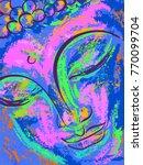 spiritual portrait of buddha.... | Shutterstock .eps vector #770099704