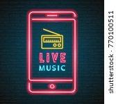 radio and phone neon light... | Shutterstock .eps vector #770100511