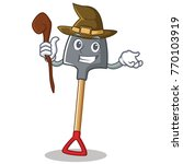 witch shovel character cartoon... | Shutterstock .eps vector #770103919