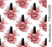 manicure vector seamless... | Shutterstock .eps vector #770110339