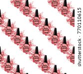 manicure vector seamless... | Shutterstock .eps vector #770110615