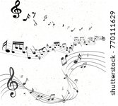 music notes abstract   Shutterstock .eps vector #770111629