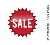 sale flash button | Shutterstock .eps vector #770119381