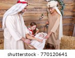 religious people stand on a... | Shutterstock . vector #770120641