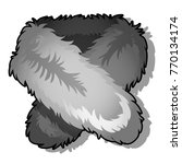 fur collar isolated on white... | Shutterstock .eps vector #770134174