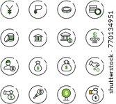 line vector icon set   yen...