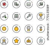 line vector icon set  ... | Shutterstock .eps vector #770135089