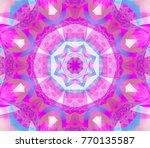 digital magenta abstract... | Shutterstock . vector #770135587