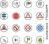 line vector icon set   elevator ... | Shutterstock .eps vector #770136499