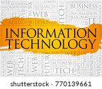 information technology word... | Shutterstock .eps vector #770139661