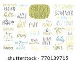 hand drawn cute summer kids... | Shutterstock .eps vector #770139715