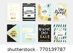 holidays cards and posters... | Shutterstock .eps vector #770139787