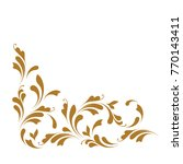 decorative corner border.... | Shutterstock .eps vector #770143411