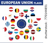 european union flags button set | Shutterstock .eps vector #770144851