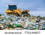 rubbish tip orange n.s.w. land... | Shutterstock . vector #770144857