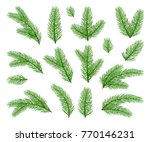 christmas decorations. set of... | Shutterstock . vector #770146231