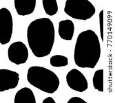 seamless pattern with black... | Shutterstock .eps vector #770149099