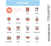 kitchen utensils   line design... | Shutterstock .eps vector #770159707