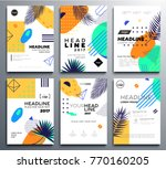 set of presentation booklet... | Shutterstock .eps vector #770160205