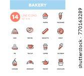 bakery concept   line design... | Shutterstock .eps vector #770163289