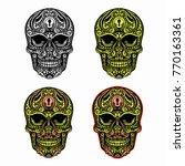 vector color decorative sugar... | Shutterstock .eps vector #770163361