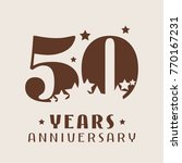 50 years anniversary vector... | Shutterstock .eps vector #770167231