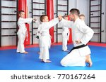 male karate instructor training ... | Shutterstock . vector #770167264