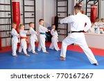 male karate instructor training ... | Shutterstock . vector #770167267