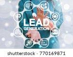 lead generation health care... | Shutterstock . vector #770169871