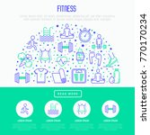 fitness concept in half circle... | Shutterstock .eps vector #770170234