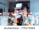 double exposure concept of... | Shutterstock . vector #770173465
