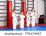 little children practicing... | Shutterstock . vector #770174947