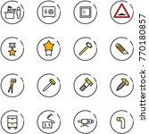 line vector icon set   passport ... | Shutterstock .eps vector #770180857