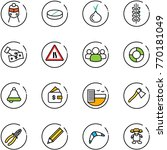 line vector icon set   train...