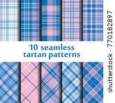 set of seamless tartan patterns | Shutterstock .eps vector #770182897