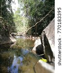 Small photo of the small river proceeding in the mountain district. summer.Thailand