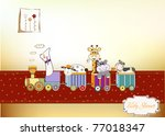 customizable birthday card with ... | Shutterstock .eps vector #77018347