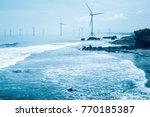 offshore wind farm   clean... | Shutterstock . vector #770185387