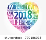2018 love and happy concept ... | Shutterstock .eps vector #770186035