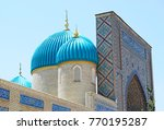 mosque  with beautiful... | Shutterstock . vector #770195287