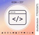 code editor icon | Shutterstock .eps vector #770202871