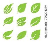 leaves icon set. | Shutterstock .eps vector #770204389