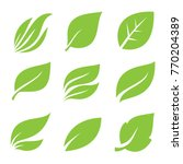 Leaves Icon Set.