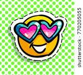 smile in love emoticon. happy...   Shutterstock .eps vector #770205055
