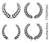 set of laurel wreaths vectors... | Shutterstock .eps vector #770209261