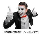 Happy Mime Showing Thumbs Up....