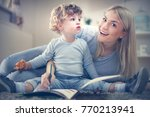 single mother have play with... | Shutterstock . vector #770213941