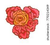 8   16   bit 5  five   roses ... | Shutterstock .eps vector #770214349