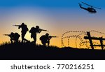 military vector illustration ... | Shutterstock .eps vector #770216251