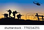 military vector illustration ...